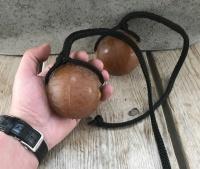 Bal aan touw hond