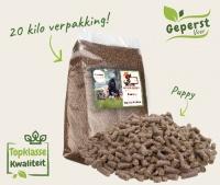Geperst puppy voer