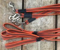 antislip hondenriem 2 meter oranje