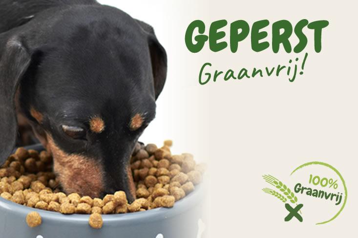 Geperst graanvrij hondenvoer